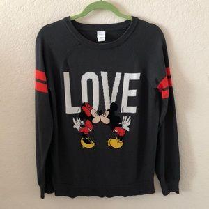 Disney Mickey and Minnie Love Long Sleeve Sweater
